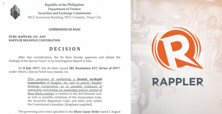 SEC orders closure of online news site Rappler