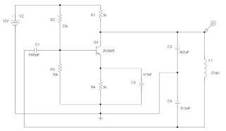 Colpitts Oscillator Schematic diagram