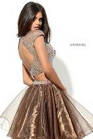 Rochie Sherri Hill 50560 Brown1