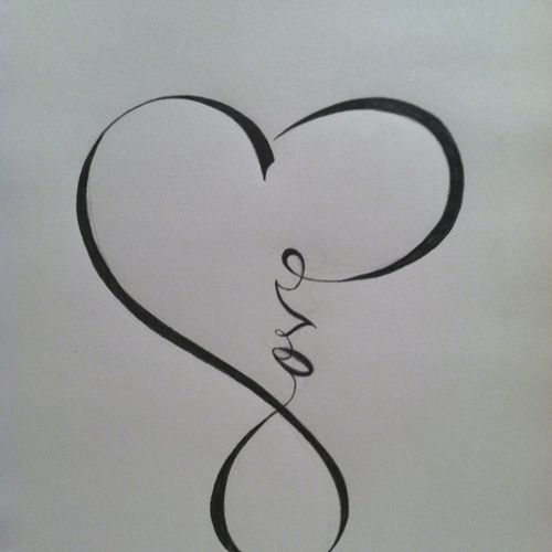 Love Calligraphy That Resembles The Infinity Sign Quotes And
