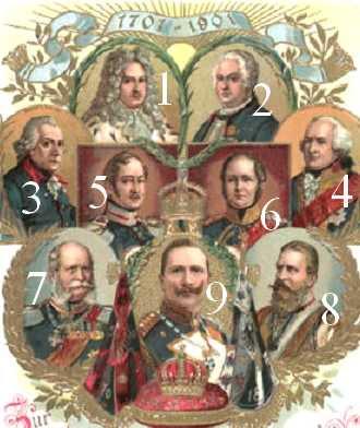 Rois de Prusse 1701-1901