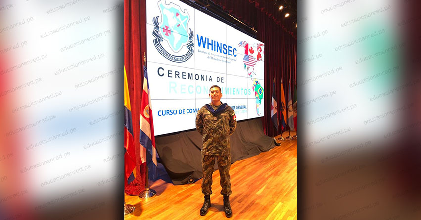 Soldado peruano se gradúa con honores en instituto de seguridad de Estados Unidos
