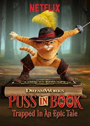 Nonton Puss In Book Trapped In A Epic Tale (2017)