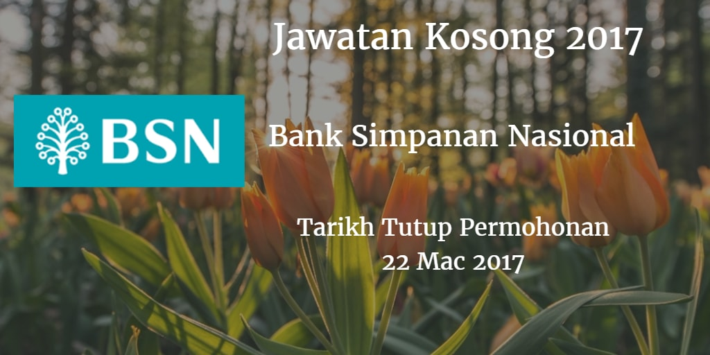 Jawatan Kosong BSN 22 Mac 2017