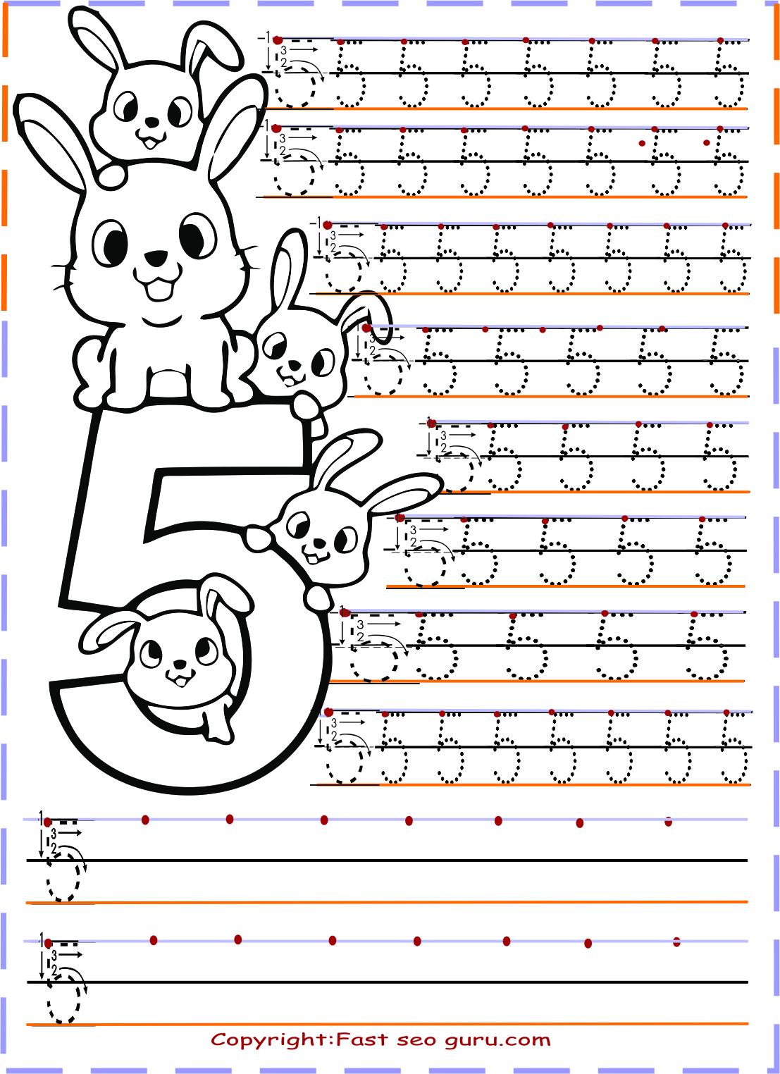 Bir Dunya Zeynep Number Tracing Worksheets Say Cal Ma Sayfalar