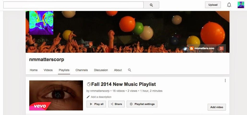 New Music Matters: YouTube Playlist of Fall 2014 New Music Playlist