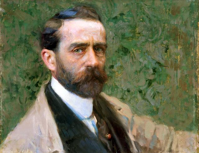 Félix Mestres Borrell, Self Portrait, Portraits of Painters, Mestres Borrell, Fine arts, Portraits of painters blog, Paintings of Félix Mestres, Painter Félix Mestres