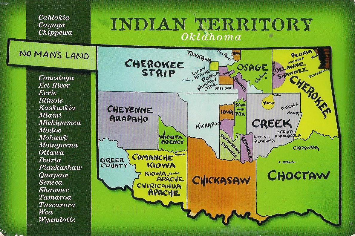 More POSTCARDS & STAMPS: USA - Map - Oklahoma