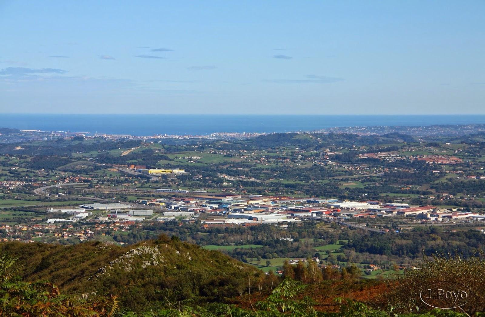Vistas desde el Sagrado Corazón del Monte Naranco de Oviedo
