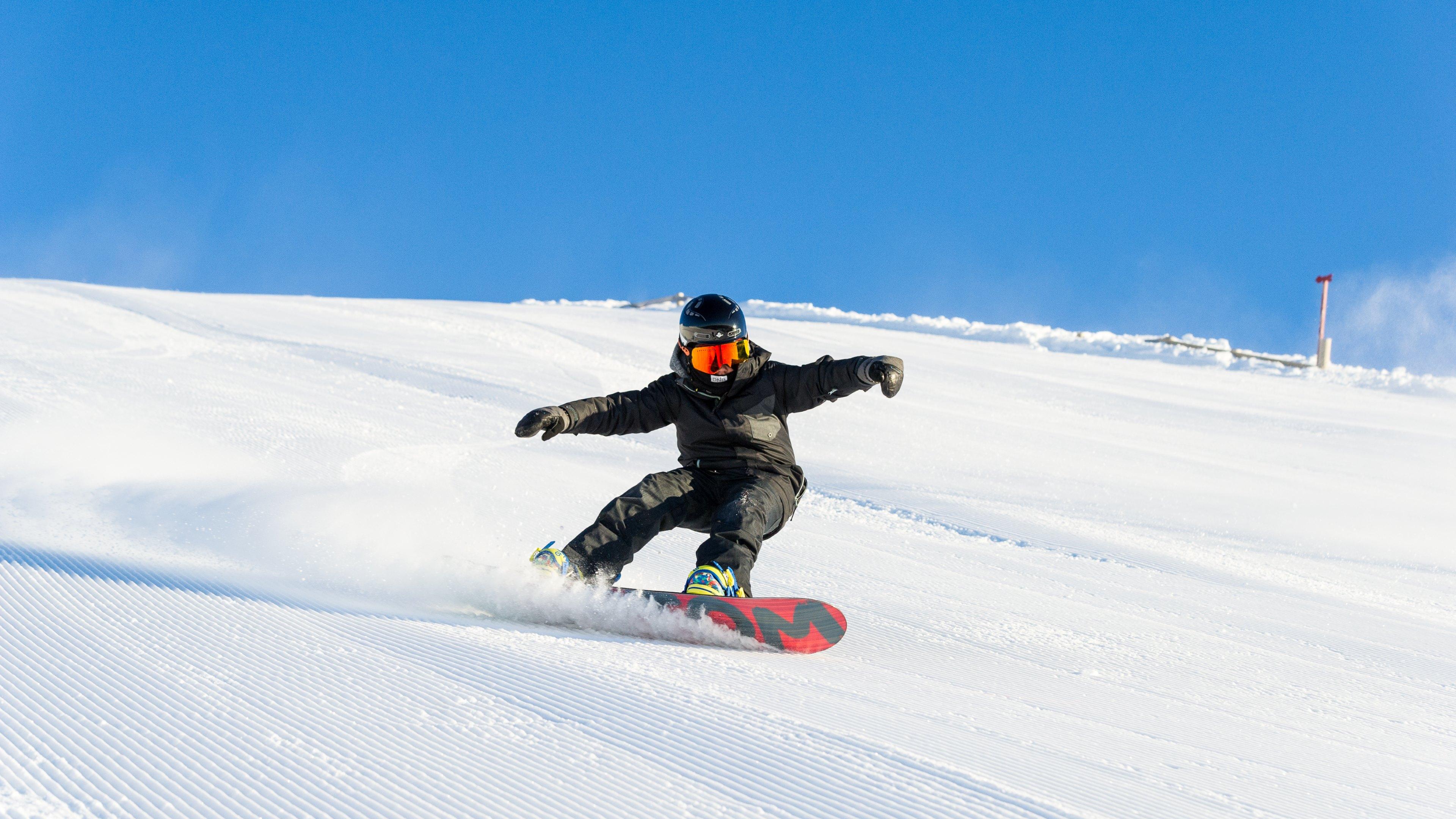 4k hd wallpaper winter sports   snowboarding