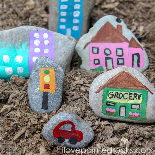 How to Paint a Rock Village: Easy Rock Painting Idea for Kids