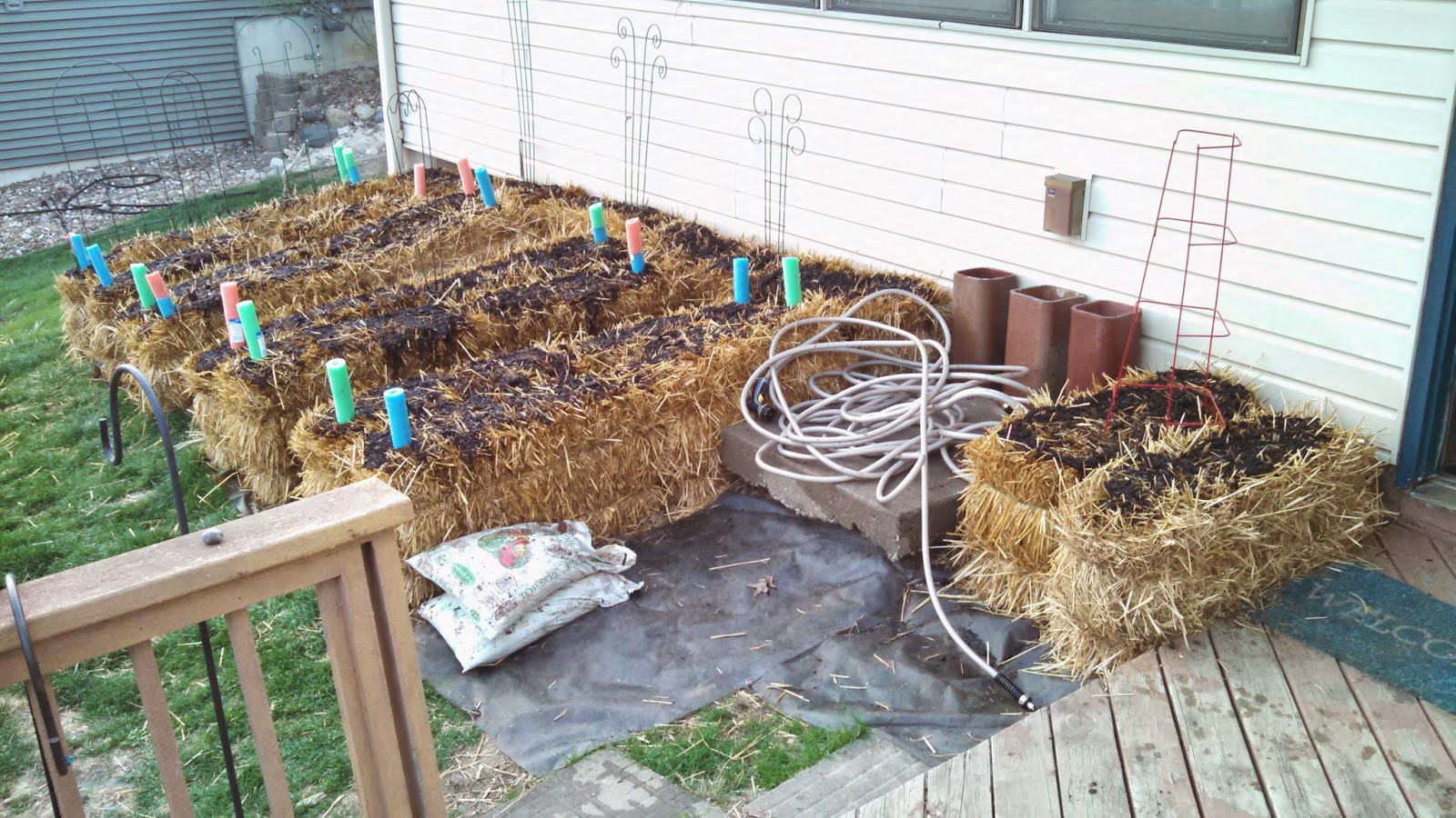 Straw Bale Garden- Ready to Plant!