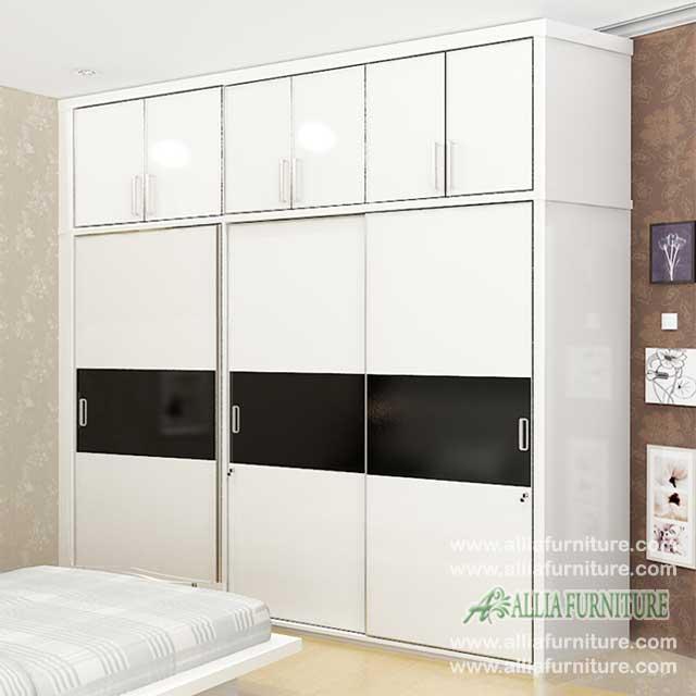 lemari minimalis 3 pintu unit model tx