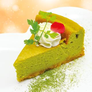 【低糖質】スピルリナ 豆乳チーズケーキ