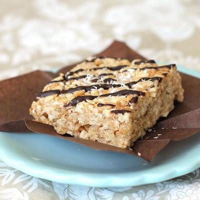 Healthy Marshmallowy Coconut Butter Krispy Treats