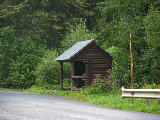 деревянная остановка