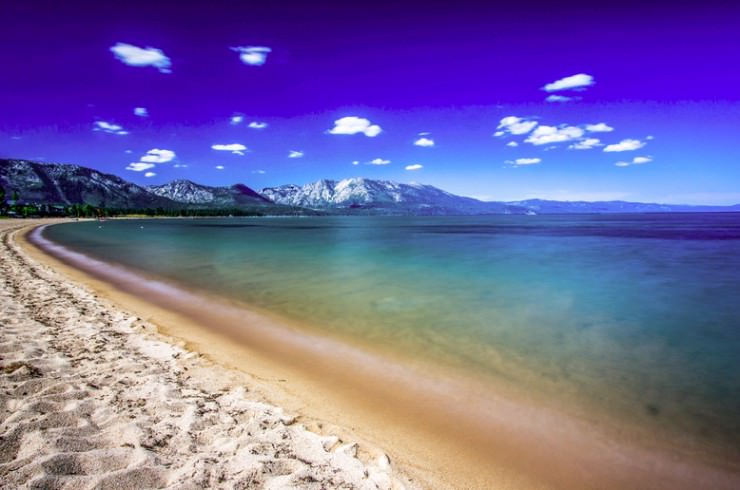 33 Amazing Beaches From Around The World - Lake Tahoe, Sierra Nevada, USA
