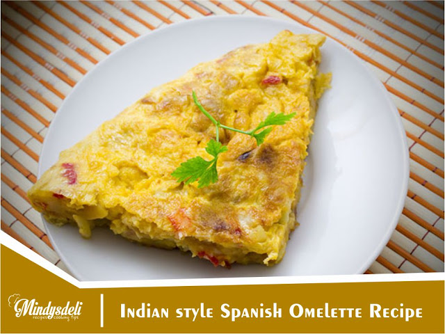 Indian style Spanish Omelette Recipe