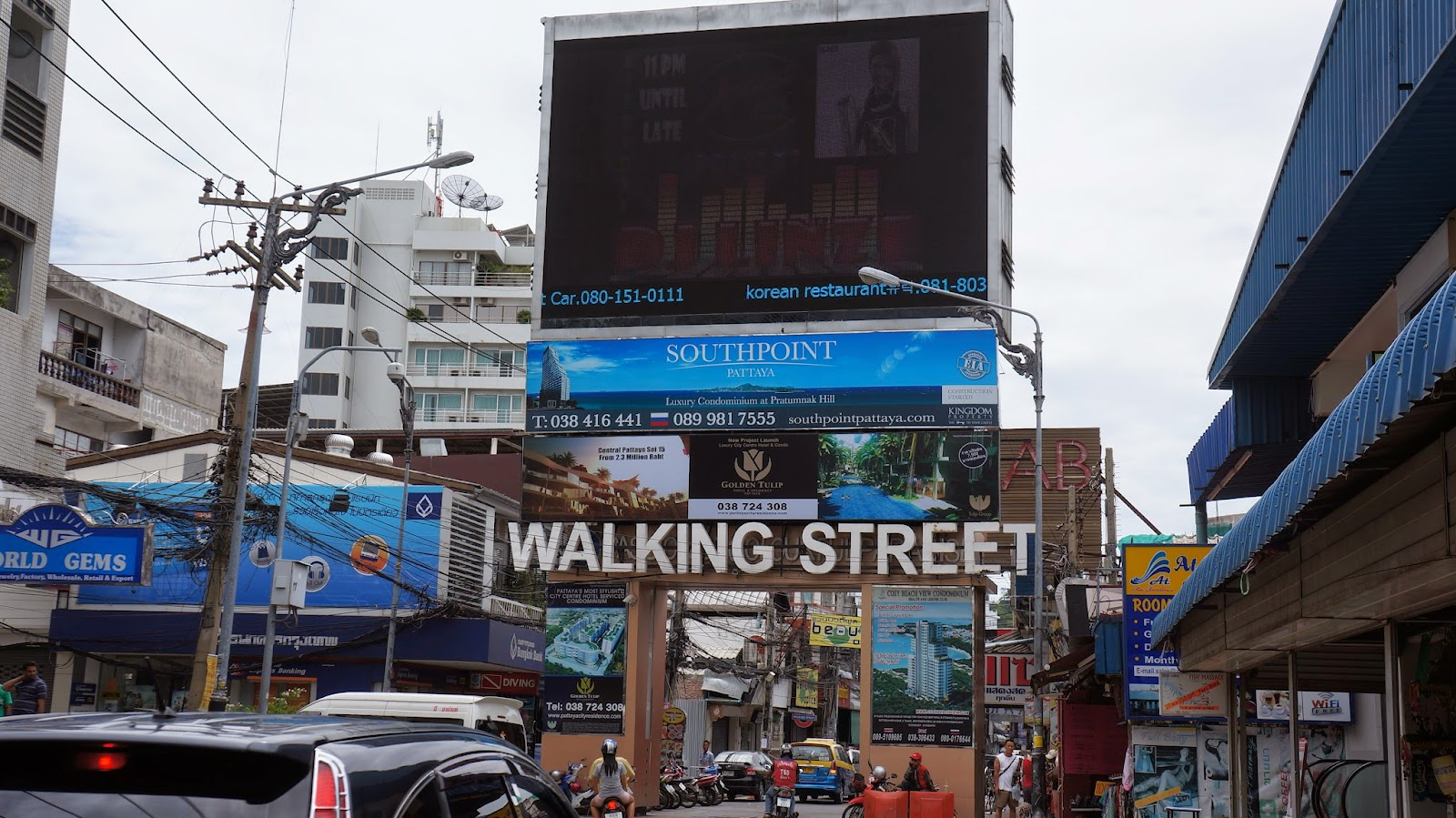 Pattaya Walking Street. Nothing much to see during the day though