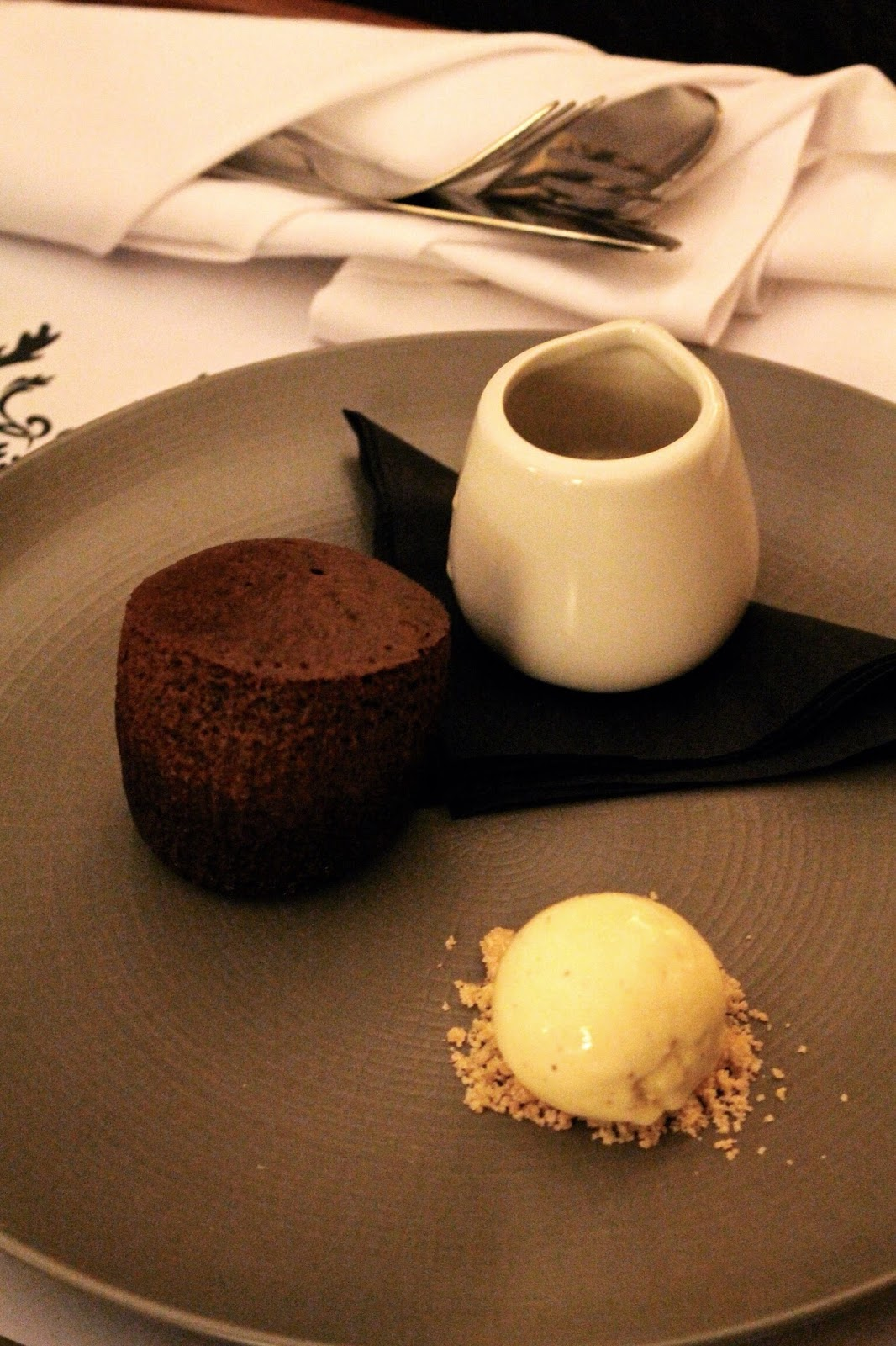 sticky toffee pudding dessert at Richmond Hill Hotel