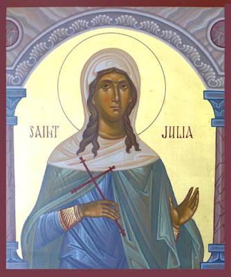 Αποτέλεσμα εικόνας για Virgin Martyr Julia of Carthage
