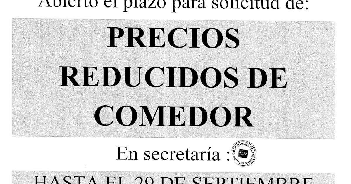 Colegio gabriel celaya de m stoles becas de comedor 2017 2018 for Becas comedor 2017 madrid