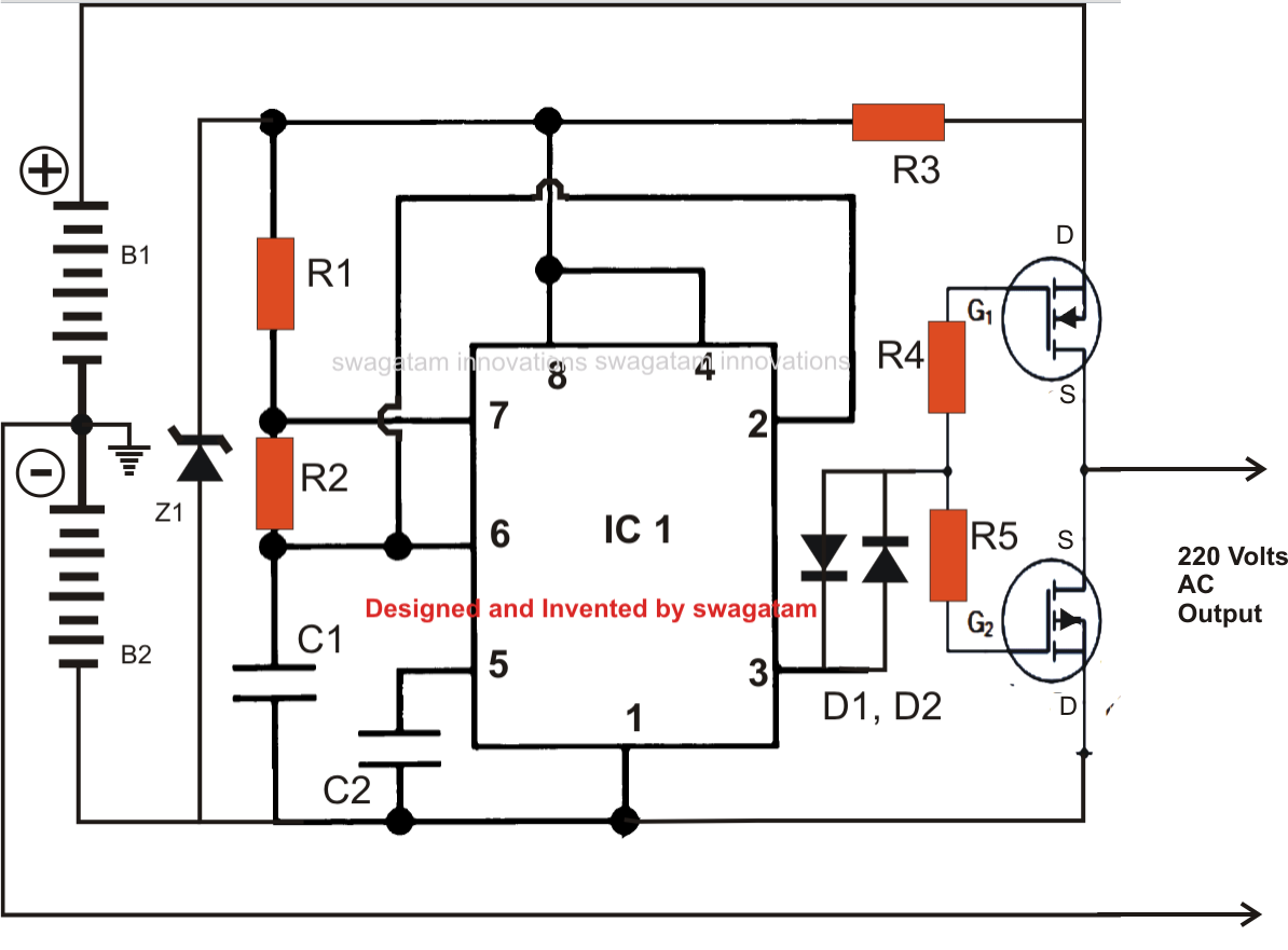 inverter transformer wiring diagram