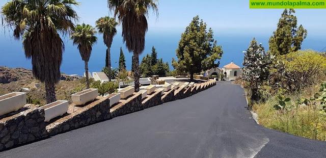 Tijarafe concluye los trabajos de repavimentación con asfalto del acceso al Cementerio Municipal