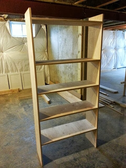 Right Up My Alley How We Built Our Library Bookshelves