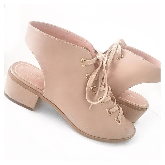 topshop pink lace up shoes