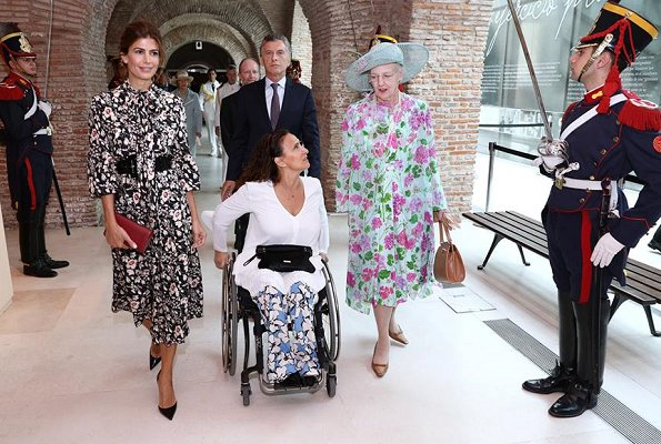 Queen Margrethe, President Mauricio Marci and First Lady Juliana Awada