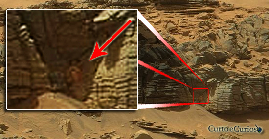 Monstro da caverna Marte? Entenda essa foto viral que causou polêmica na internet...
