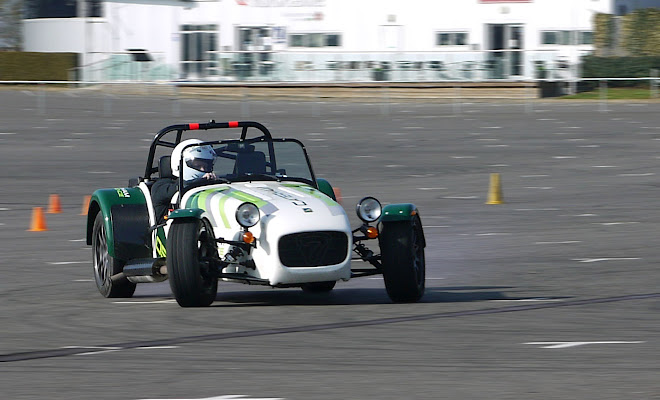 Caterham 7 going sideways