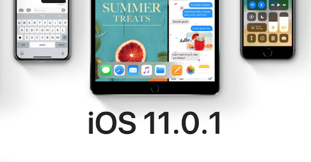 Apple released ios 11.0.1 ابل تطلق اي او اس ١١.٠.١