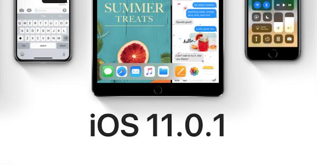 Apple released ios 11.0.1 ابل تطلق اي او اس ١١.٠.١