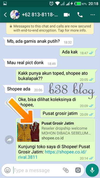 Cara Membagikan Link Shopee