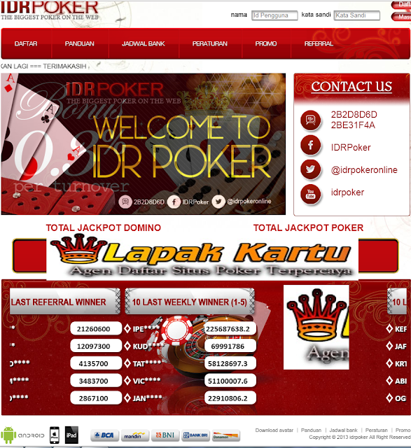 IDRPoker Jelas Agen Poker Dominoqq Terpercaya dan Legendaris 2018 - Onlineidr.com