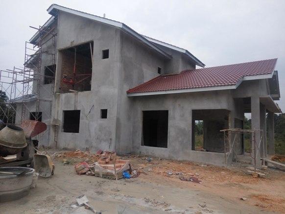bina rumah banglo 2 tingkat