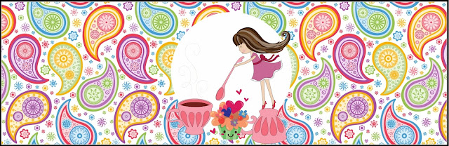 Girls Tea Party:  Free Printable  Labels.