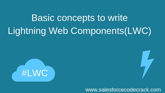 Basic concepts to write Lightning Web Components(LWC