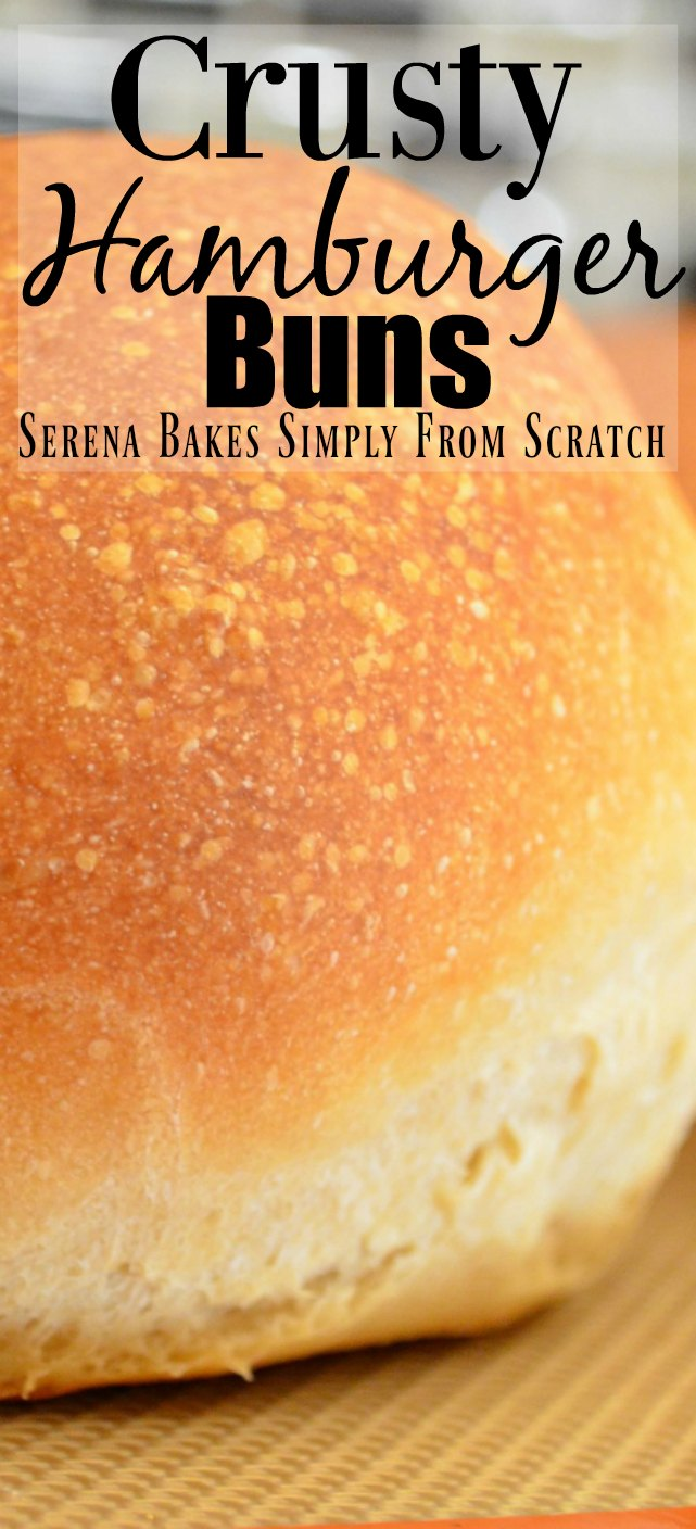 Homemade Crusty Hamburger Buns Recipe from Serena Bakes Simply From Scratch.