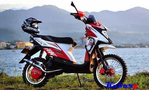 contoh modifikasi motor x ride