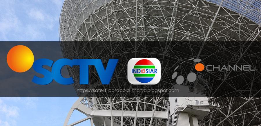 Frekuensi Terbaru Channel SCTV, Indosiar dan O Channel di Palapa D