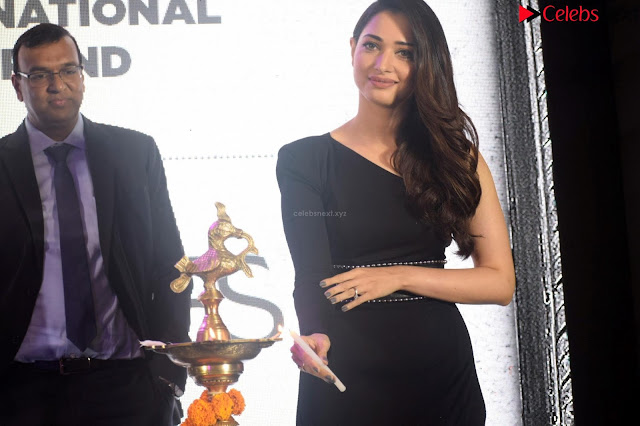 Beautiful Milky white Tamanna Bhatia in Black dress at Qutone New nd Launch ~ .xyz Exclusive 002.jpg