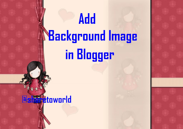 How to Add Background Image in Blogger