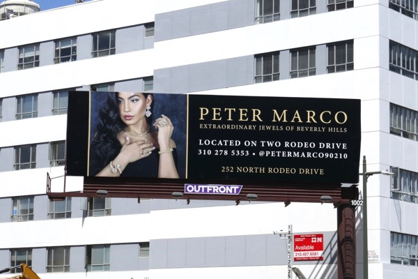 Peter Marco Beverly Hills jewels billboard