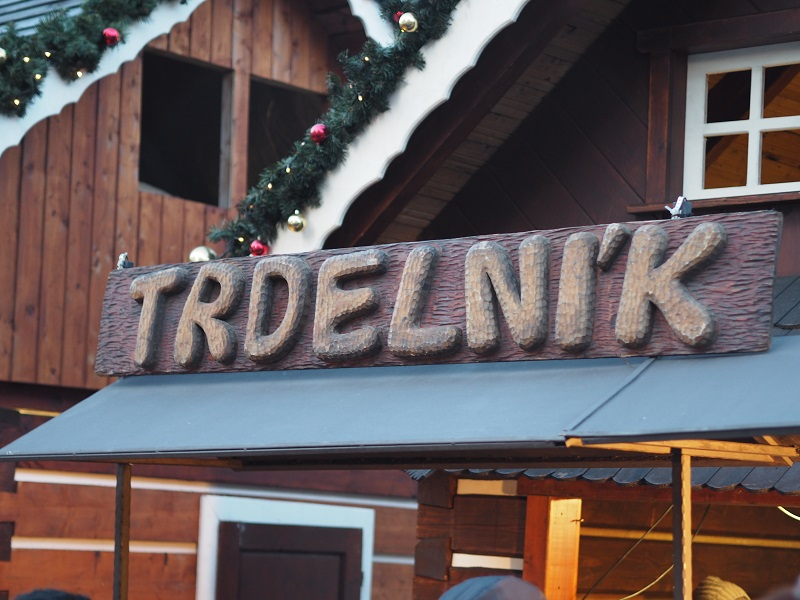 Trdelnik at Old Town Square Prague at Christmas