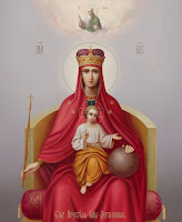 Maica Domnului, Rugaciuni catre Maica Domnului, Preasfanta Nascatoare de Dumnezeu, Maica Domnului pe tron