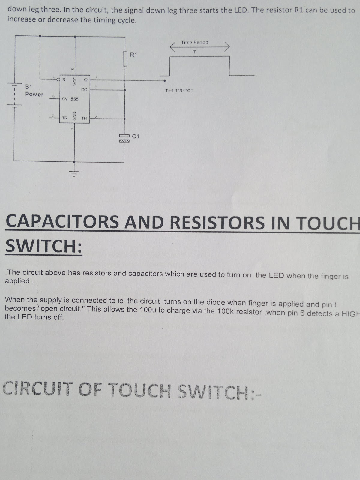 Mobile Zone Touch Switch Circuit Diagram In Uet Peshawar Pakistan At The End Of Semester I Have A Copy It And This Is Format To Study Download Each Image