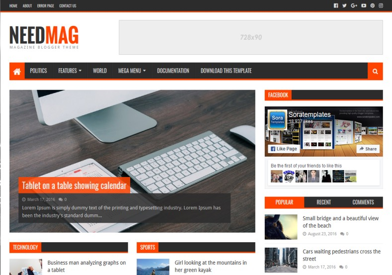 Needmag blogger template high quality free blogger templates needmag blogger template accmission Image collections